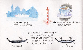Resultado de imagen de vaporetto venecia dibujo